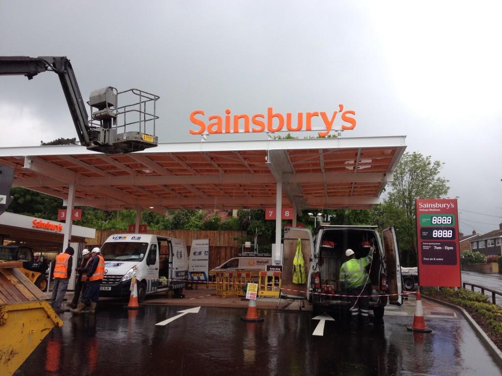 Sainsbury's Petrol Forecourt